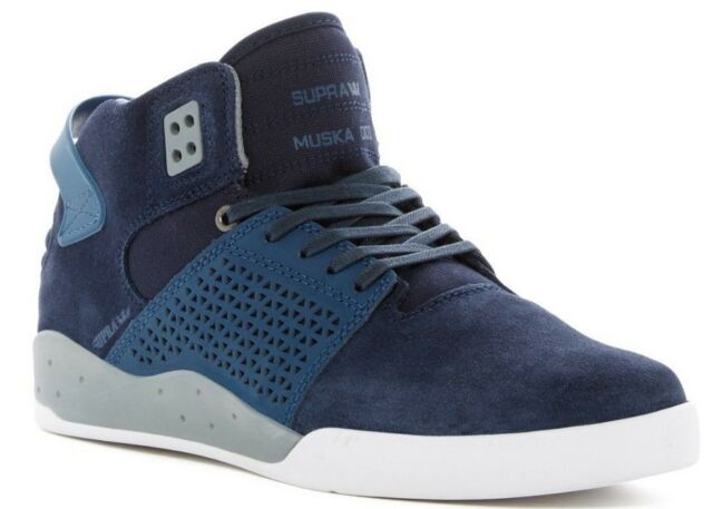 6686948d82 NIB Supra Skytop III Mid Sneakers Men's Shoes Navy White Blue Size 8.5