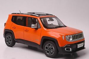 Jeep Renegade Orange >> Details About Jeep Renegade Car Model In Scale 1 18 Orange
