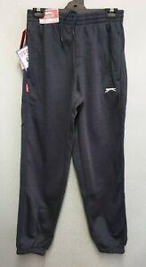 BNWT-Para-Hombre-Talla-L-Slazenger-Azul-Marino-Jog-Pantalones-Pantalones-de-pista-Cintura-Elastica