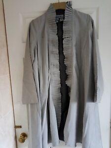 Duster Coat Xs Silver 42 Ruffles Sze Moon Wth Goth Bust Long Jacket Indigo Rqa5Ow