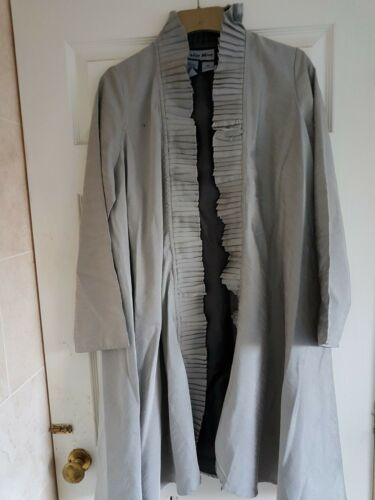 Moon Indigo Long Xs Ruffles Sze Duster Jacket Coat 42 Goth Wth Silver Bust RUUdrqw