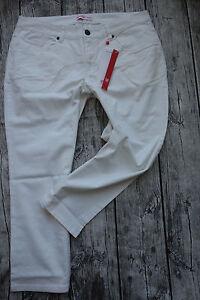 Sheego-Pants-Ladies-7-8-Slim-Jeans-Capri-Pants-Size-40-to-58-White-696-New