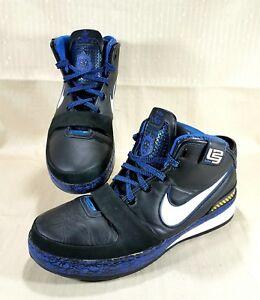 13729f7c8fc Nike Zoom Lebron VI Basketball Shoes Men SZ 14 Black   Blue Graffiti ...