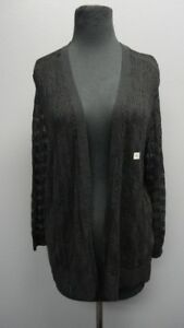 ANN-TAYLOR-LOFT-Black-Long-Sleeves-Open-Front-Casual-Cardigan-NWT-Sz-XL-FF5307