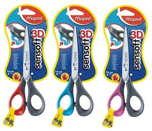 Maped-Sensoft-Left-Handed-Scissors-16cm-with-Flexible-Finger-Loops-in-3-Colours