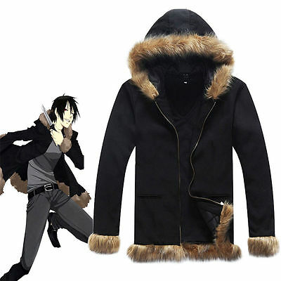 Anime DuRaRaRa!! Orihara Izaya Coat hoody Jacket Black Cosplay Costume halloween