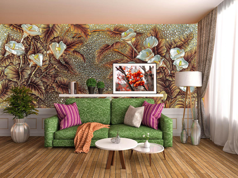 3D Klassische Blätter Blaumen  Fototapeten Wandbild Fototapete BildTapete Familie