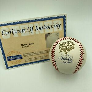"""Derek Jeter """"World Series MVP"""" Signed 2000 World Series Baseball Steiner COA"""