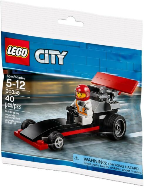 LEGO City F1 Race Car - 30358 With Minifig and Instructions