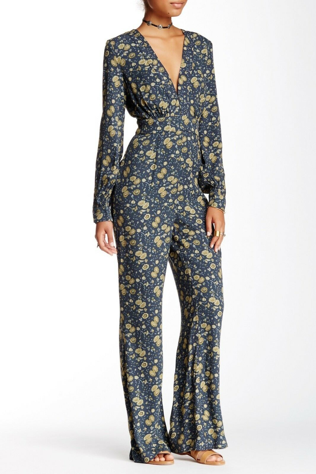 Free People Some Like it Hot Jumpsuit MIDNIGHT COMBO OB466226