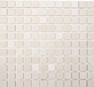 Blanc cassé mosaïque émaux brillant pleine masse