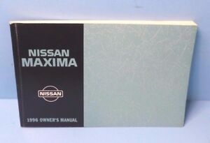 96 1996 nissan maxima owners manual ebay rh ebay com Nissan Maxima 96 On 20 1996 nissan maxima service manual pdf