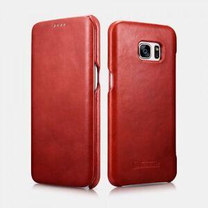Samsung Galaxy S7 Edge Etui en cuir de luxe Vintage Rouge