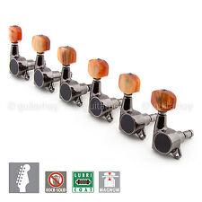 GOTOH Sg381-p8 MG Magnum Lock Locking Key Set 6 in Line Tuner - Cosmo Black