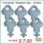 """/""""Universal/"""" Skeleton Key for Paper Towel 6//pk. Toilet Tissue Dispensers"""