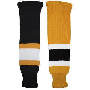 Boston-Bruins-Knitted-Classic-Pro-Hockey-Socks-Gold-Black-White