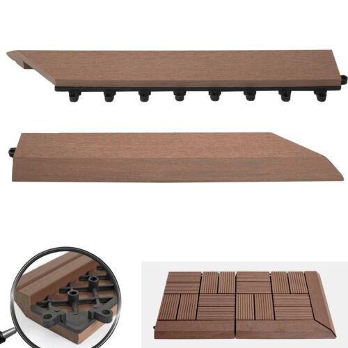 2x barra di completamento per Wpc Pavimento Piastrella Rodano balcone Coffee destra con ganci