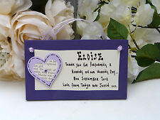 C18 Personalised Wedding Reader, Reading, Attendant, Guest thank you gift plaque