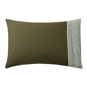 Two Natori Bali King Pillowcases - Brown - MSRP $160
