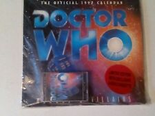 DOCTOR WHO THE OFFICIAL 1997 CALENDAR - HEROES & VILLAINS. LIMITED EDITION.