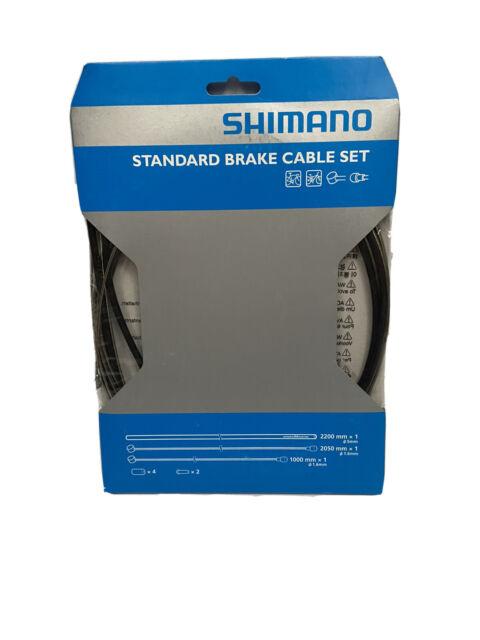 Shimano Standard Brake Cable Set Kit Black Housing for MTB or Road Bike Bicycle