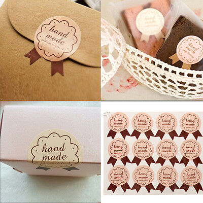 48x Handmade Paper Stickers Labels Seal Craft Preserve Gift Food Decal Party