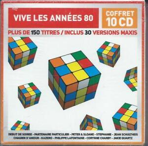 Vive-les-annees-80-Coffret-de-10-CD-Neuf-sous-cellophane