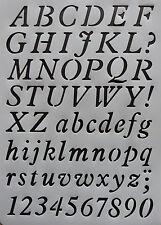 Plastic /PVC/Stencil/Alphabet/Upper/Lower case/ Numbers 1-0/Design/Painting/Art1