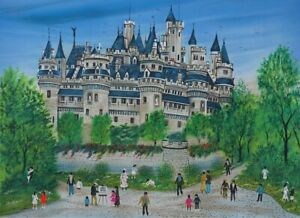 Dan-Gandre-the-Castle-of-Pierrefonds-Lithography-Signed-Pencil-150ex