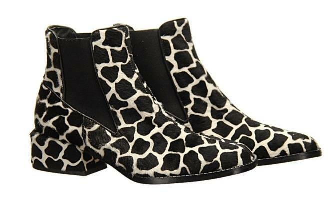 Tibi Dakota Black and White Booties Womens Ankle Boots Size 36