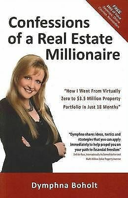 1 of 1 - Confessions of a Real Estate Millionaire by Dymphna Boholt (Paperback)VGCmnf1495