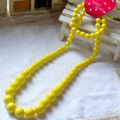 Fashion Bracelet Cute Candy Color Children/'s Collier Acrylique Perles Enfants Cadeau