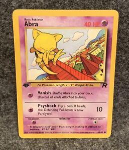 Abra Team Rocket EX 49//82 Pokemon Card.