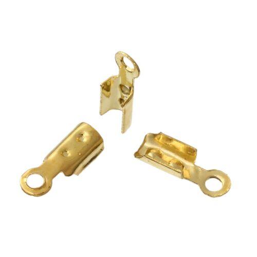 gold f Draht-//Fadenstärke 1,5mm 1000 Schnur-Endkappen 8 x 3 mm