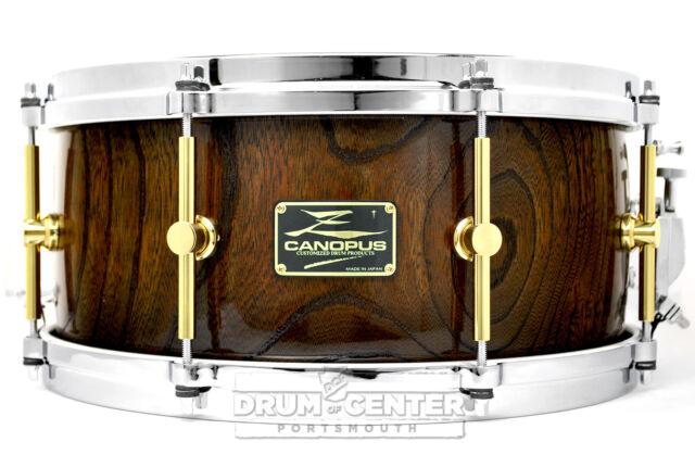canopus zelkova snare drum 14x6 5 video demo for sale online ebay. Black Bedroom Furniture Sets. Home Design Ideas