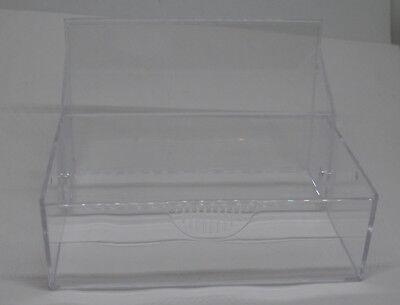 3 Visitenkartenhalter glasklar zum Aufklappen für 100 Karten 9,5 x 6 x 3 cm Neu