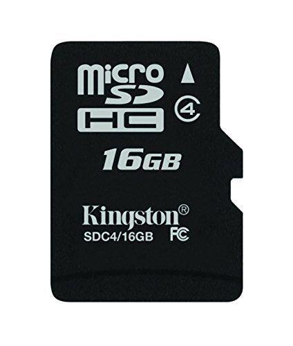 Kingston SDC4 16/GBSP 16 Go Classe 4 Carte MicroSDHC SDC4/16 GBSP sans Adaptateur,