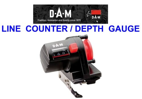 DAM LINE COUNTER DEPTH GAUGE FOR SEA FISHING TROLLING BOAT ROD RIGS COD LURES