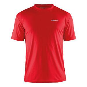 Craft-hombre-activo-Deportes-Camiseta-Ligera-Transpirable-Training-Top-de-tacto-suave