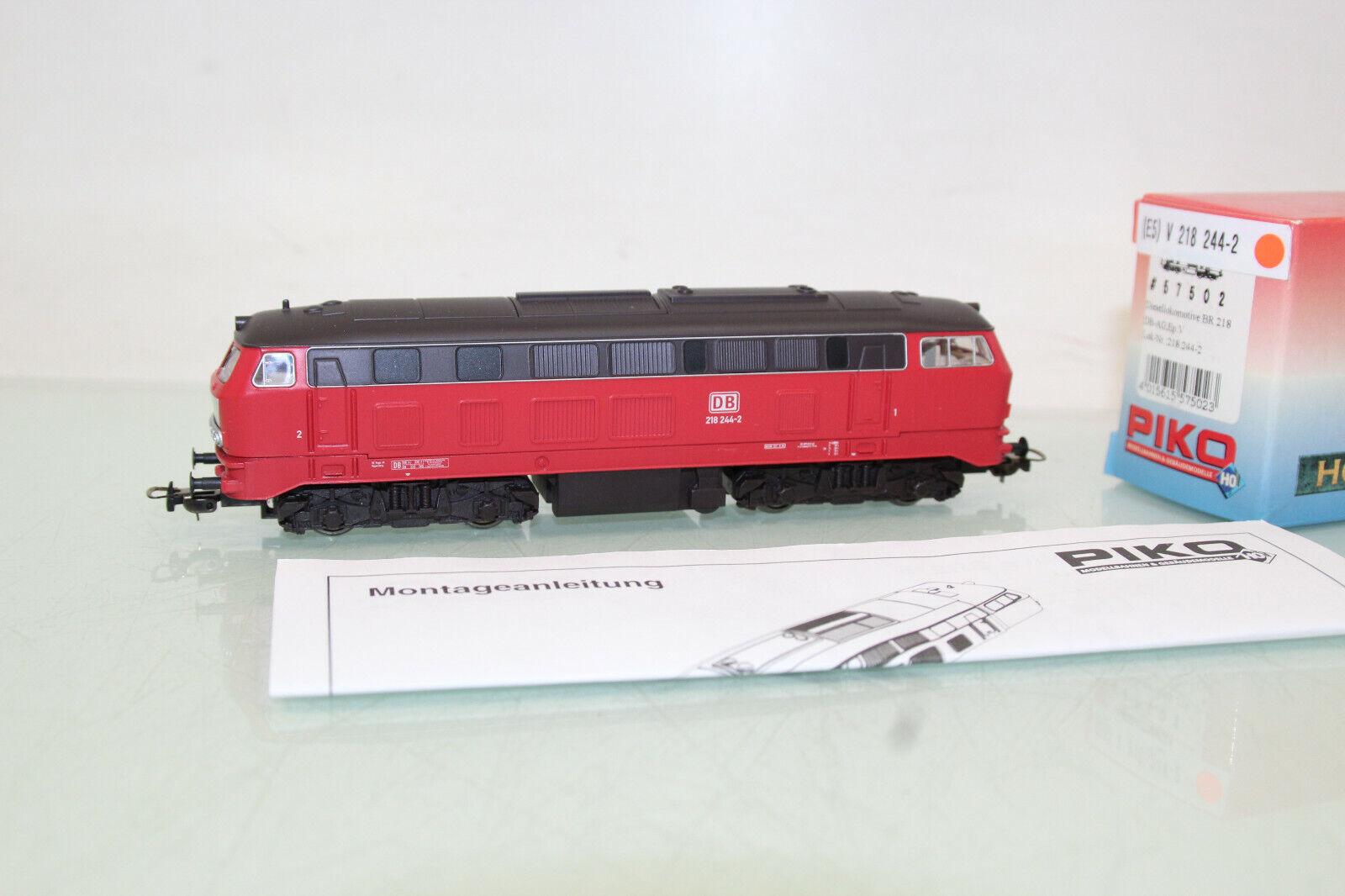 PIKO h0 57502 DIESEL BR 218 244-2 delle DB AG come nuovo in scatola originale (cl4350)