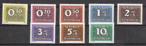 1985-86-Porto-Neue-Nachportomarken-Ziffernzeichnung-Postfrisch-MNH-260-267
