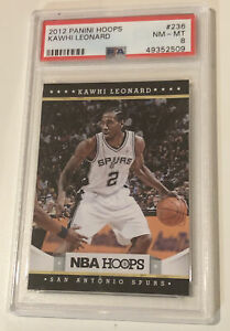 Kawhi-Leonard-Spurs-2012-Panini-Hoops-Basketball-Rookie-Card-RC-236-PSA-8
