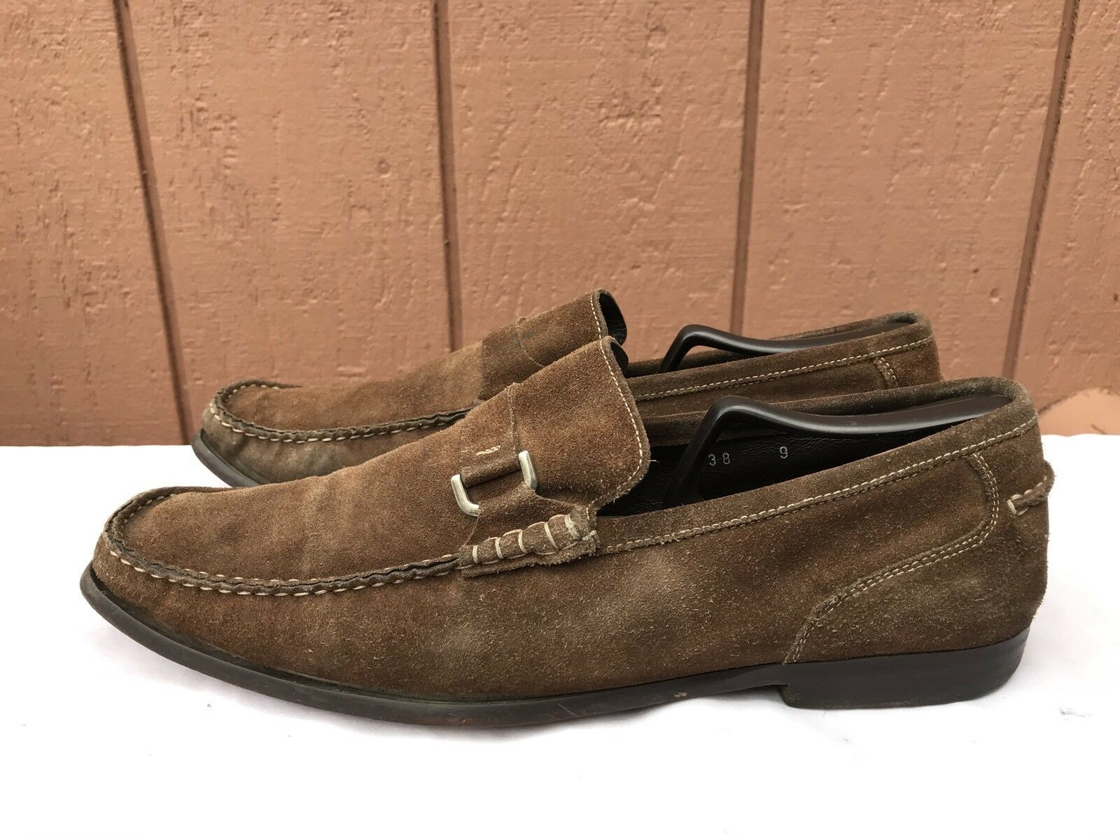 To Boot New York Slip On Suede Penny Loafers Brown Uomo Sz US 9
