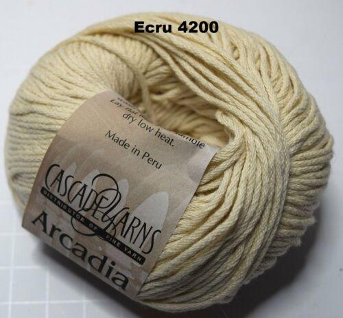 3 - DK//Light Worsted Cascade ARCADIA Cotton Angora 50g Blue Ecru
