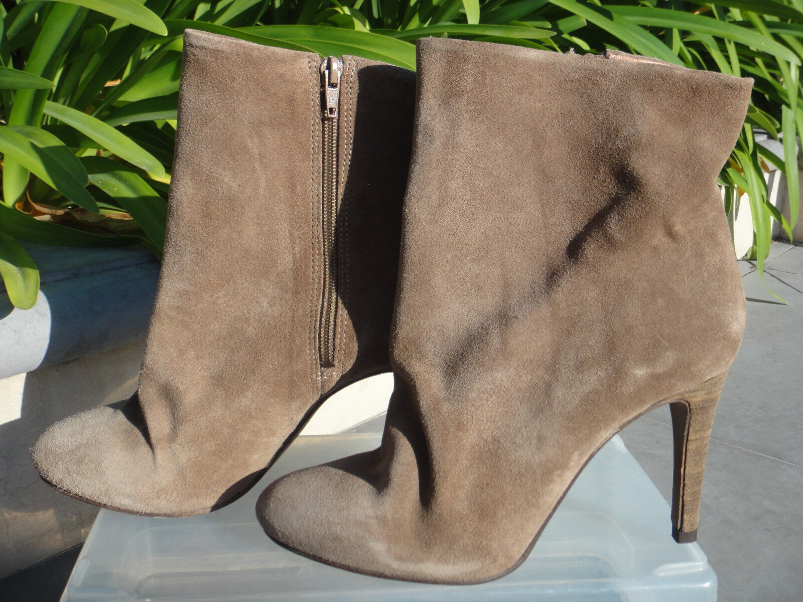 FREE PEOPLE Fairfax Suede Ankle Boot Slouchy Silhouette Heel Size US8 EUR38 178