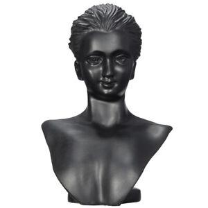 Black Head Bust Stand Schmuck Halskette Ohrring Kette Display Halter Rack