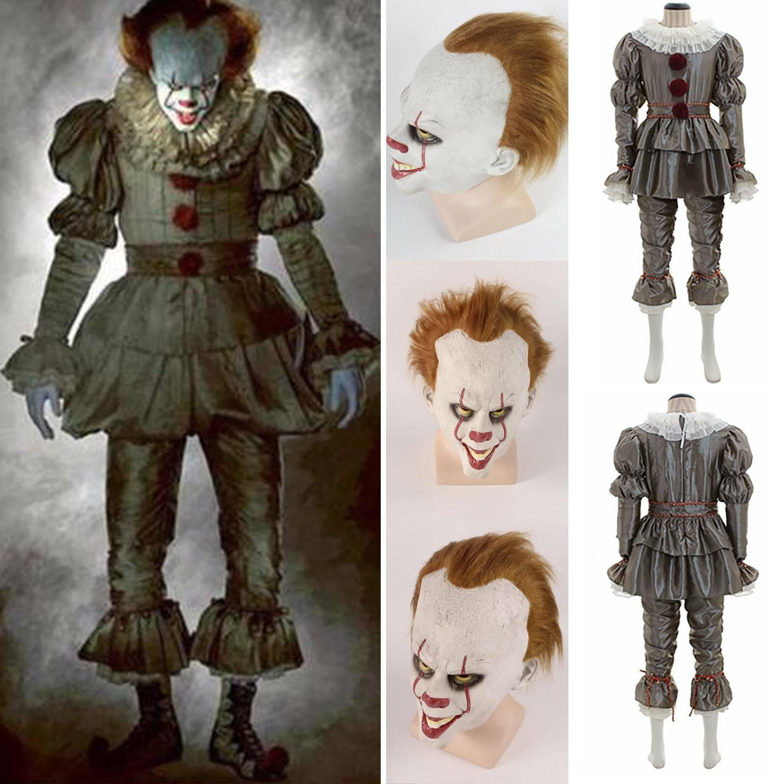 Stephen Kings Es Pennywise Salvador Dali Herren Faschings Karneval Kostüm Set DE