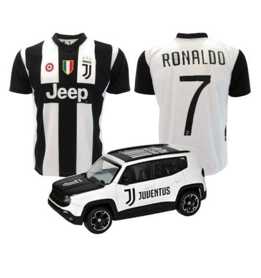 Maglietta Ufficiale REPLICA Juventus CRISTIANO RONALDO 7 CR7 + MODELLINO JEEP