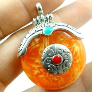 1pc-Precious-Modernist-amber-pendant-Gemstone-Loose-Beads-PL-37