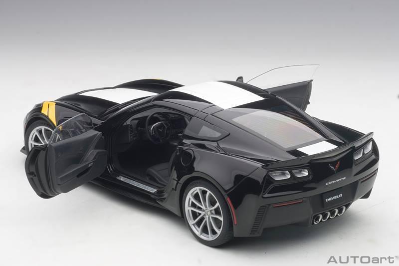 2017 Corvette C7 Grand Sport en Noir Noir Noir Modèle en 1:18 Echelle par Autoart | La Construction Rationnelle  aa3fd9